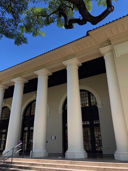 ハワイ州立図書館入り口