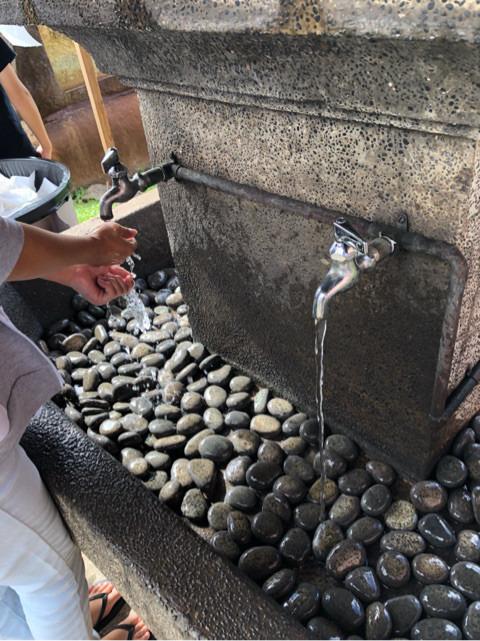 金刀比羅神社の手を洗う水道